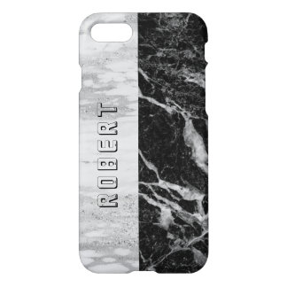 Black & Gray Combo Marble Geometric Design iPhone 8/7 Case