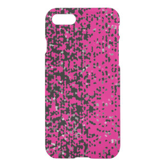 Black Gray Confetti on Pink + Pick Your Color iPhone 7 Case