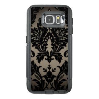 Black & Gray Damask Pattern Print OtterBox Samsung Galaxy S6 Case