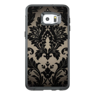 Black & Gray Damask Pattern Print OtterBox Samsung Galaxy S6 Edge Plus Case