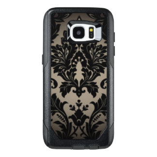 Black & Gray Damask Pattern Print OtterBox Samsung Galaxy S7 Edge Case