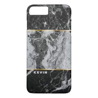 Black & Gray Faux Marble Combination iPhone 8 Plus/7 Plus Case