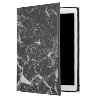 "Black & Gray Faux Marble iPad Pro 12.9"" Case"