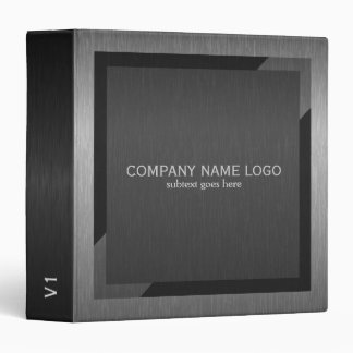 Black & Gray Geometric Metallic Design 3 Ring Binders