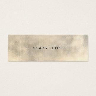Black Gray Gold Faux Linen Minimal Texture Urban Mini Business Card