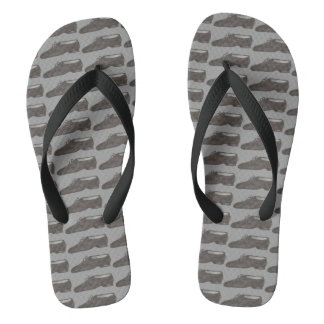 Black Gray Jazz Dance Teacher Shoe Dancer Recital Flip Flops