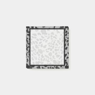 """Black & Gray Leopard"" 3x3 Post-it Notes"