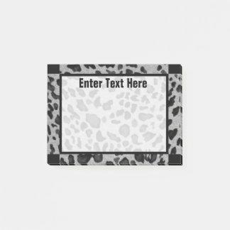 """Black & Gray Leopard"" 4x3 Post-it Notes"