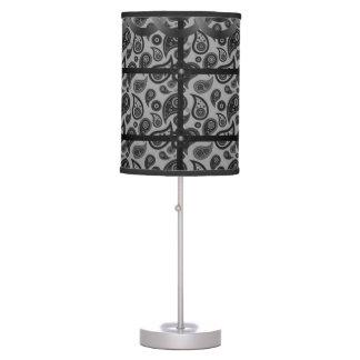 black gray paisley decorative lamp shade