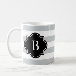 Black & Gray Rugby Stripe | Mug