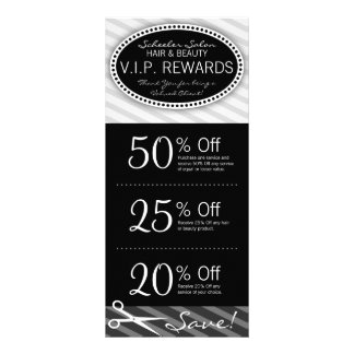 Black & Gray Salon Coupons Full Color Rack Card