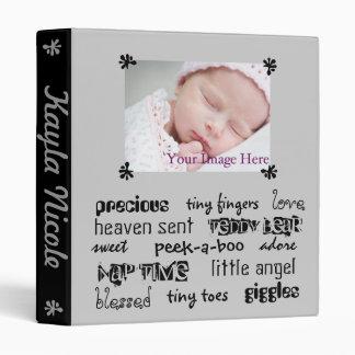Black & Gray Unisex Baby Book Vinyl Binder
