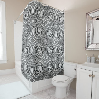Black Gray White Abstract Swirl Pattern