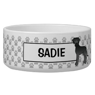 Black Great Dane Dog Design With Pet's Name