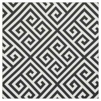 Black Greek Key Pattern Fabric