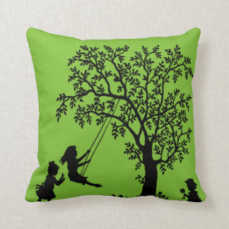 Black green Abstract Tree kids playing pillow