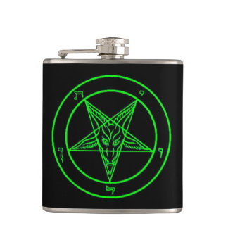 Black/Green Baphomet Flask
