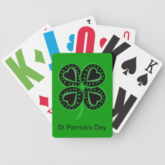 Black Green Clover Heart St Patrick Green P Cards
