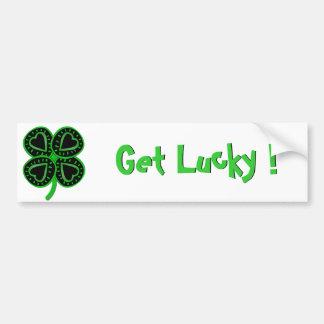 Black Green Clover Heart St Patty's Day Bumper S Bumper Sticker