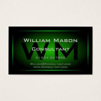 Black & Green Framed Monogram - Business Card