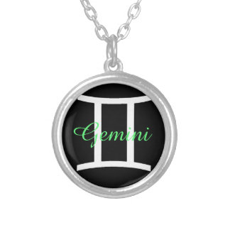 Black & Green Gemini Horoscope Sign Necklace