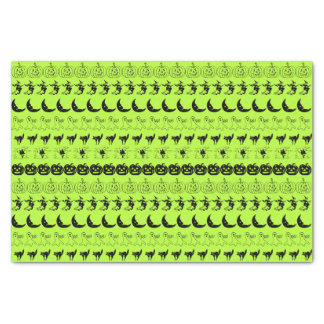 Black/Green Halloween  Fun Font Art Pattern Tissue Paper