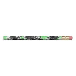 Black Green Paint Splatter Pencils