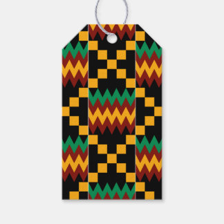 Black, Green, Red, and Yellow Kente Cloth Pack Of Gift Tags