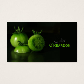 Black Green Tomatoes Chef Restaurant Business Card