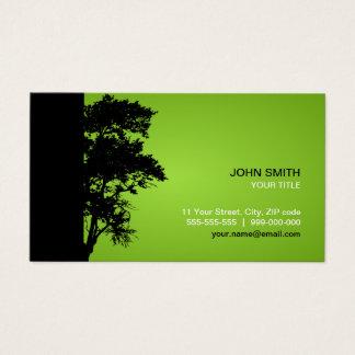 Black / Green Tree business card