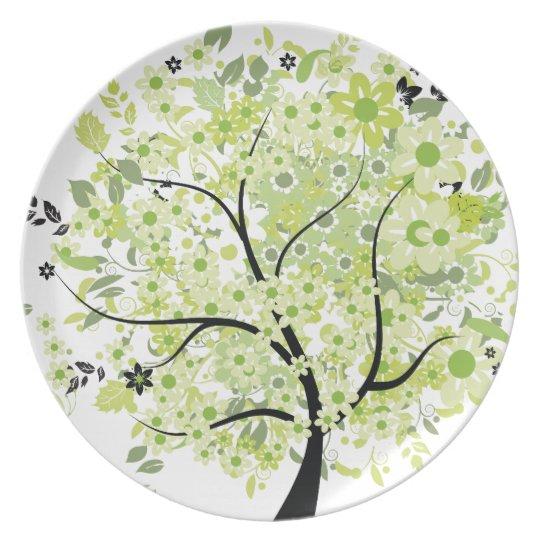 Black-Green Tree Plate