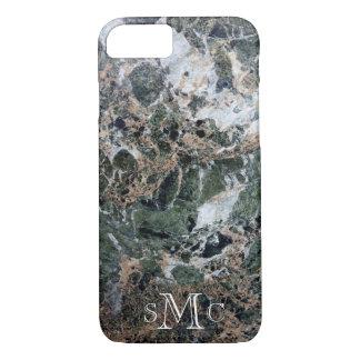 Black Green White Peach Marble iPhone 8/7 Case