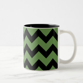 Black & Green Zig Zag Mug