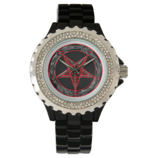 Black Grey and Red Baphomet Watch
