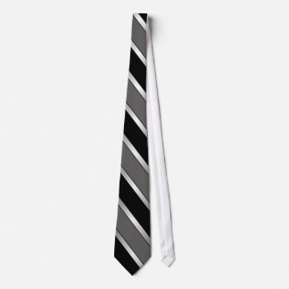 Black, Grey, and Silver striped tie