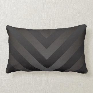 Black & Grey Angular Pattern Lumbar Pillow
