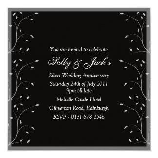 Black & Grey Anniversary Party Invitation