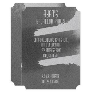 Black & Grey Bachelor Party Invitation