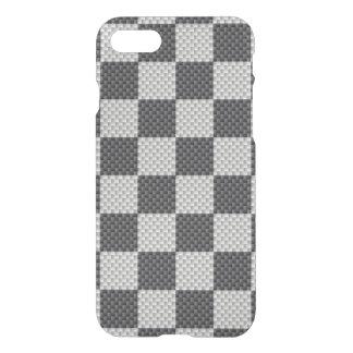 Black & Grey Carbon Fiber Checker Board iPhone 7 Case