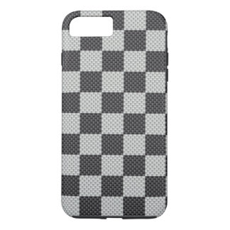 Black & Grey Carbon Fibre Chequered Board iPhone 7 Plus Case