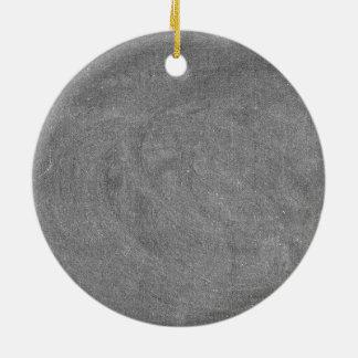Black Grey Chalkboard Blackboard Background Round Ceramic Ornament
