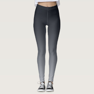 Black grey gradient . Ombre . Leggings