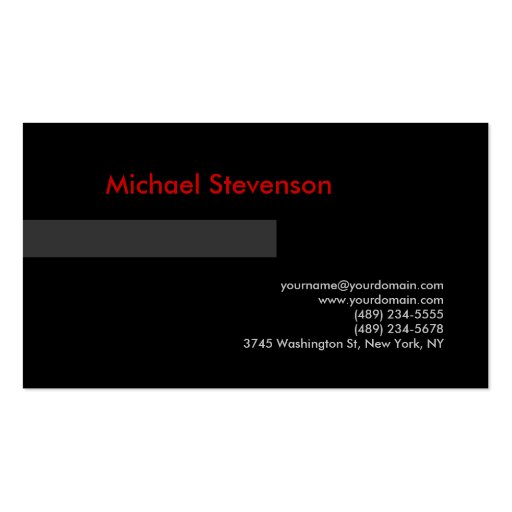 Black Grey Green Red Consultant Business Card