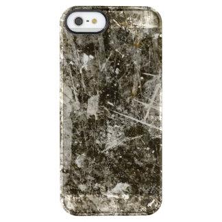 Black grey grunge digital graphic art design clear iPhone SE/5/5s case