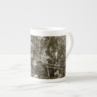 Black grey grunge digital graphic art design tea cup