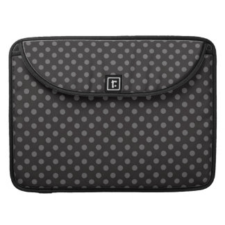 BLACK GREY POLKA DOTS PATTERN SLEEVE FOR MacBooks