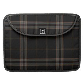 Black Grey Red Tartan Plaid Sleeve For MacBooks