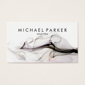 Black Grey Smoke Abstract Business Card
