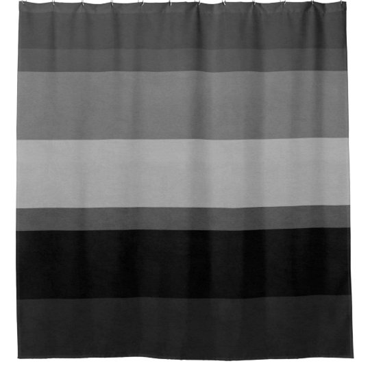 Black & Grey Sophisticated striped shower curtain