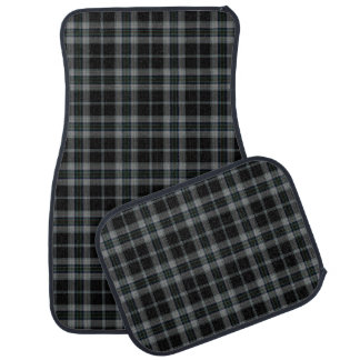 Black Grey Tartan Plaid Car Mat